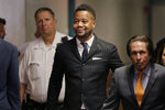 Cuba Gooding Jr. arrives to a courtroom in New York, Thursday, Oct. 10, 2019.   The actor is accused of placing his hand on a 29-year-old woman's breast and squeezing it without her consent in New York on June 9. (AP Photo/Seth Wenig)