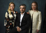 Sigrid Dyekjær, from left, Feras Fayyad and Kirstine Barfod pose for a portrait at the 92nd Academy Awards Nominees Luncheon at the Loews Hotel on Monday, Jan. 27, 2020, in Los Angeles. (AP Photo/Chris Pizzello)