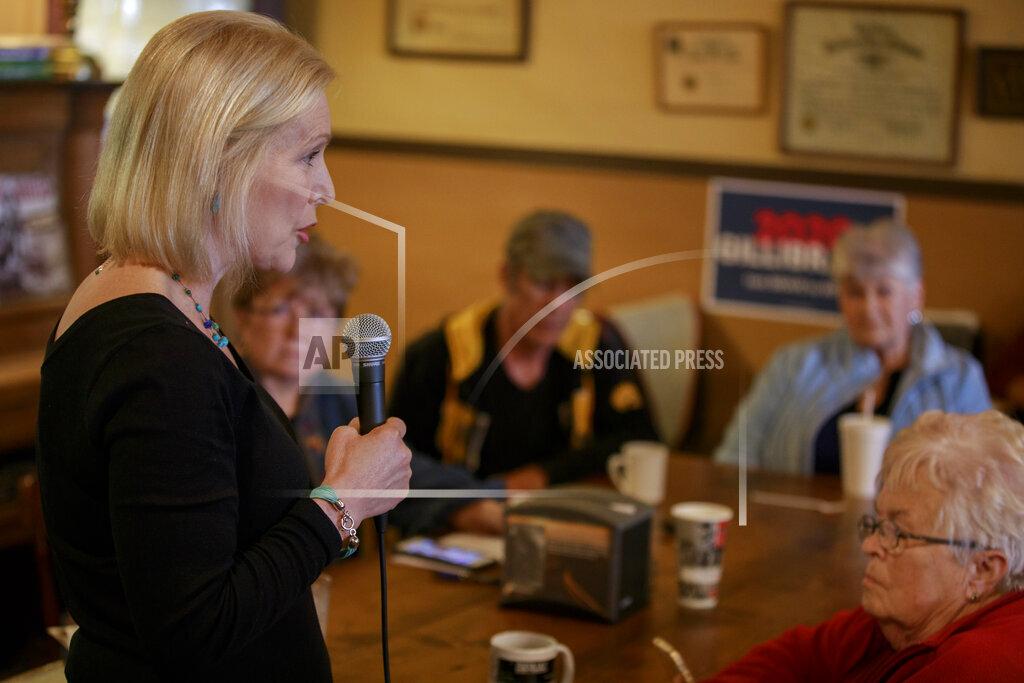 Kirsten Gillibrand campaign at Adams Street Espresso & Soda Shoppe in Creston, Iowa, USA - 18 Apr 2019