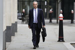 Justin Rushbrooke QC who is representing Meghan, the Duchess of Sussex arrives at the High Court in London, Monday, Sept. 21, 2020. The next stage in the Duchess of Sussex's legal action against a British newspaper over its publication of a