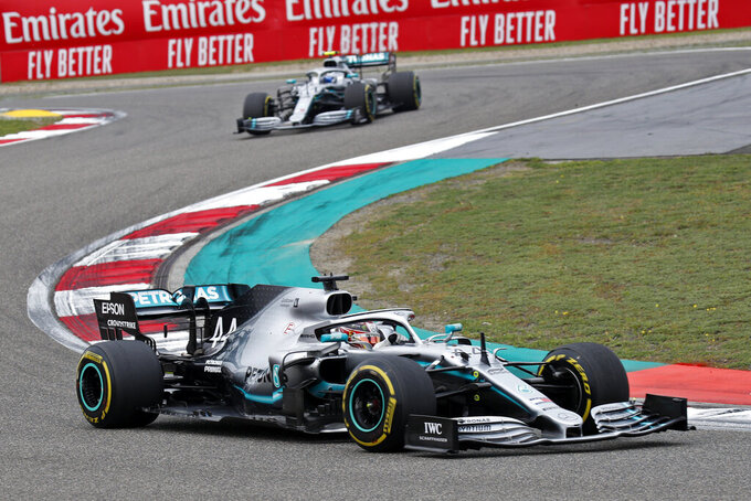 Hamilton wins his 6th Chinese GP, Mercedes 1-2 for 3rd time