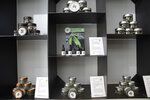 In this Thursday, June 6, 2019 photo, cannabis buds and products are displayed at a cannabis light store in Milan, Italy. Interior Minister Matteo Salvini has been an outspoken opponent of the marijuana light businesses that sprouted up around the country after pioneering 2016 legislation that many saw as a step toward eventual marijuana liberalization. (AP Photo/Luca Bruno)
