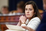 In this Nov. 20, 2019 file photo, Rep. Elise Stefanik, R-N.Y., listens during a House Intelligence Committee hearing on Capitol Hill in Washington. (AP Photo/Andrew Harnik)