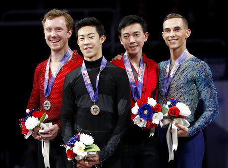 Nathan Chen, Adam Rippon, Ross Miner, Vincent Zhou
