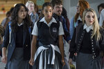 This image released by 20th Century Fox shows Megan Lawless, from left, Amandla Stenberg, and Sabrina Carpenter in a scene from