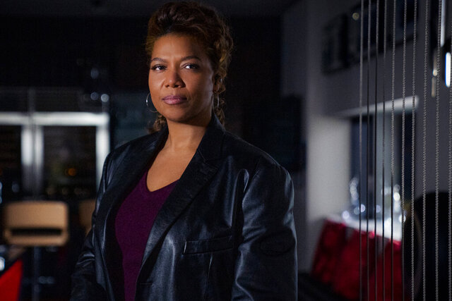 This image released by CBS shows Queen Latifah as Robyn McCall in the pilot episode of the series