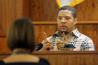 Prosecution witness Alexander Bradley describes a gun he saw with former New England Patriots football player Aaron Hernandez on a trip to Florida in Fall River