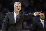 Kansas State head coach Bruce Weber motions to his team during the first half of an NCAA college basketball game against Florida A&M, Monday, Dec. 2, 2019, in Manhattan, Kan. (AP Photo/Charlie Riedel)