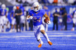Boise State running back George Holani (24) runs with the ball during the second half the team's NCAA college football game against UTEP on Friday, Sept. 10, 2021, in Boise, Idaho. (AP Photo/Steve Conner)