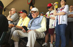 """FILE - In this March 5, 2016, file photo, Tommy Giordano, special assistant to the general manager of the Atlanta Braves, scouts a spring training baseball game between the Braves and the Pittsburgh Pirates, in Kissimmee, Fla.  """"I'm going to do this until I die,"""" Giordano told me back in 2016, when I first met him at the Braves' spring training complex, located within the confines of Disney World. """"I can't wait to get up in the morning and go to the ballpark."""" (AP Photo/Paul Newberry, File)"""