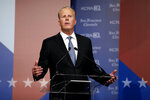 Republican Kevin Faulconer speaks during a debate between candidates for the upcoming California recall election, held by KCRA 3 and the San Francisco Chronicle in Sacramento, Calif., on Wednesday, Aug. 25, 2021. (Scott Strazzante/San Francisco Chronicle via AP, Pool)