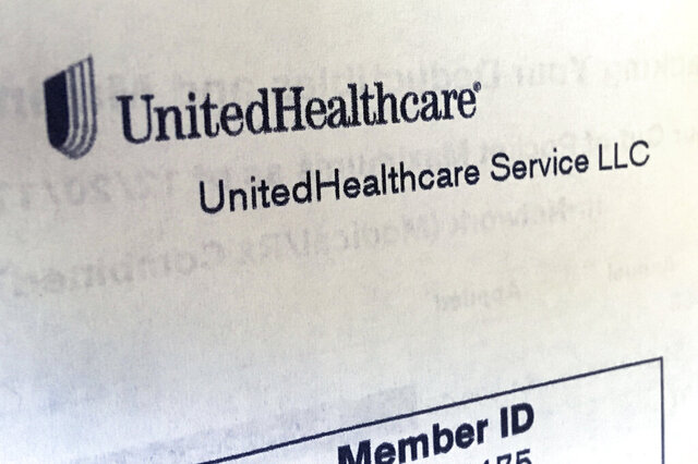 FILE - In this June 15, 2018 file photo, United Healthcare correspondence is seen in North Andover, Mass. The pandemic has shut down large portions of the economy and forced many companies to abandon their forecasts in 2020.  The nation's largest health insurance provider, UnitedHealth Group Inc., and Medicaid specialist Centene Corp. have reaffirmed their forecasts earlier this month.  (AP Photo/Elise Amendola, File)