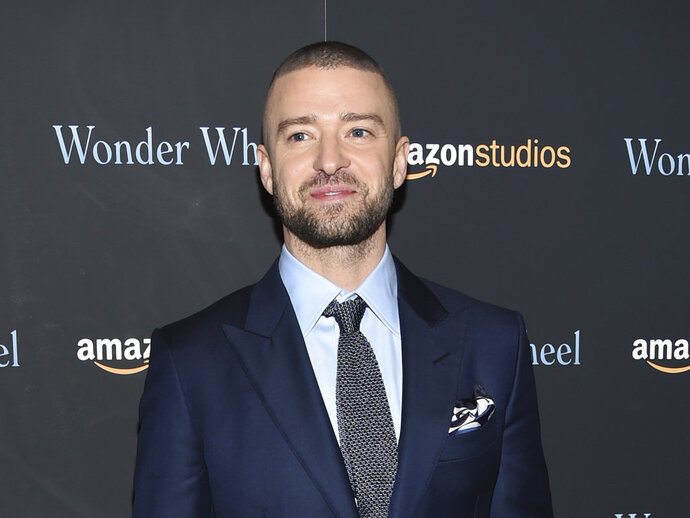FILE - In this Nov. 14, 2017 file photo, singer-actor Justin Timberlake attends a special screening of his film,