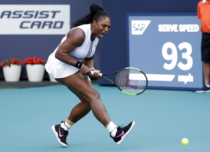 Serena withdraws, No. 1 Osaka loses, Federer wins at Miami