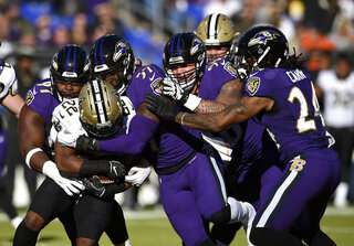 Saints Ravens Football