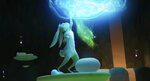 This image released by Netflix shows the character Jade Rabbit in a scene from