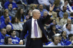 Seton Hall's head coach Kevin Willard yells during the second half of an NCAA college basketball game against St. John's in Newark, N.J., Sunday, Feb. 23, 2020. Seton Hall defeated St. John's 81-65. (AP Photo/Seth Wenig)