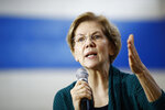 Democratic presidential candidate Sen. Elizabeth Warren, D-Mass., speaks during a campaign event, Sunday, Jan. 19, 2020, in Des Moines, Iowa. (AP Photo/Patrick Semansky)