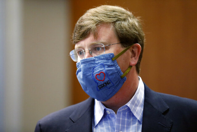 Gov. Tate Reeves sports a