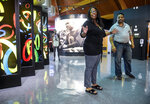 Marlene Dortch, granddaughter of Jesse Owens, visits the Jesse Owens Museum with her husband, Llewellyn Dortch, on Tuesday, July 20, 2021. (Jeronimo Nisa/The Decatur Daily via AP)