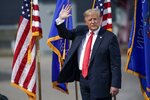 President Donald Trump leaves the stage after speaking at an event at Fincantieri Marinette Marine, Thursday, June 25, 2020, in Marinette, Wis. (AP Photo/Morry Gash)