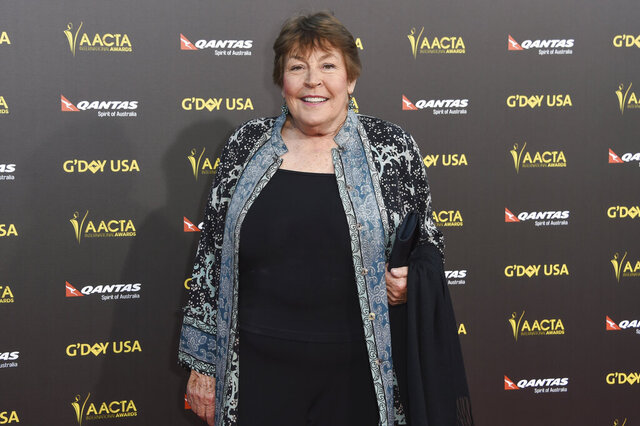 "FILE - In this Jan. 31, 2015, file photo, Australian-born singer Helen Reddy attends the 2015 G'DAY USA GALA at the Hollywood Palladium, in Los Angeles. Reddy, who shot to stardom in the 1970s with her feminist anthem ""I Am Woman"" and recorded a string of other hits, has died at age 78. Reddy's children Traci and Jordan announced that the actress-singer died Tuesday, Sept. 29, 2020, in Los Angeles. (Photo by Rob Latour/Invision/AP, File)"