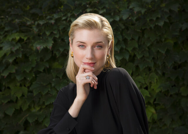 FILE - Actress Elizabeth Debicki appears during a portrait session at the 76th edition of the Venice Film Festival, in Venice, Italy, on Sept. 7, 2019.  Debicki stars in the Christopher Nolan film