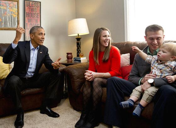 Barack Obama, Lisa Martin, Jeff Martin, Cooper Martin