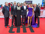 CORRECTS TO MATTHEW RHYS INSTEAD OF RYS Chris Cooper, from left, Tom Hanks, director Marielle Heller, Matthew Rhys, Susan Kelechi Watson and Enrico Colantoni at the Gala Premiere of the film