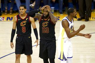 LeBron James, Jordan Clarkson, Kevin Durant
