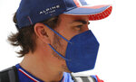 Alpine F1 team driver Fernando Alonso from Spainarrives to the Bahrain International Circuit, in Sakhir, Bahrain, Thursday, March 25, 2021. Bahrain F1 race will be March 28. (AP Photo/Kamran Jebreili)