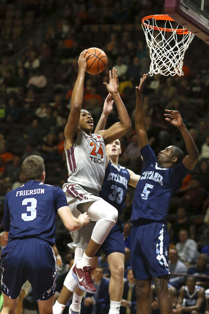 Citadel Virginia Tech Basketball