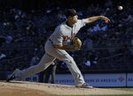 Detroit Tigers' Matthew Boyd delivers a pitch during the second inning of a baseball game against the New York Yankees Wednesday, April 3, 2019, in New York. (AP Photo/Frank Franklin II)