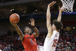 Maryland's Darryl Morsell (11) goes to the basket against Nebraska's Isaiah Roby (15) during the first half of an NCAA college basketball game in Lincoln, Neb., Wednesday, Feb. 6, 2019. (AP Photo/Nati Harnik)