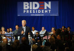 Former Vice President and Democratic presidential candidate Joe Biden speaks at a campaign event, Saturday, Nov. 16, 2019, in Las Vegas. (AP Photo/John Locher)