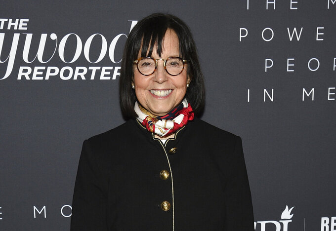 FILE - In this April 11, 2019 file photo, CBS News president Susan Zirinsky attends The Hollywood Reporter's annual Most Powerful People in Media cocktail reception at The Pool in New York. Zirinsky told colleagues that she will be leaving as CBS News president after two years on the job. She is expected to stay at the network in some capacity.  (Photo by Evan Agostini/Invision/AP, File)