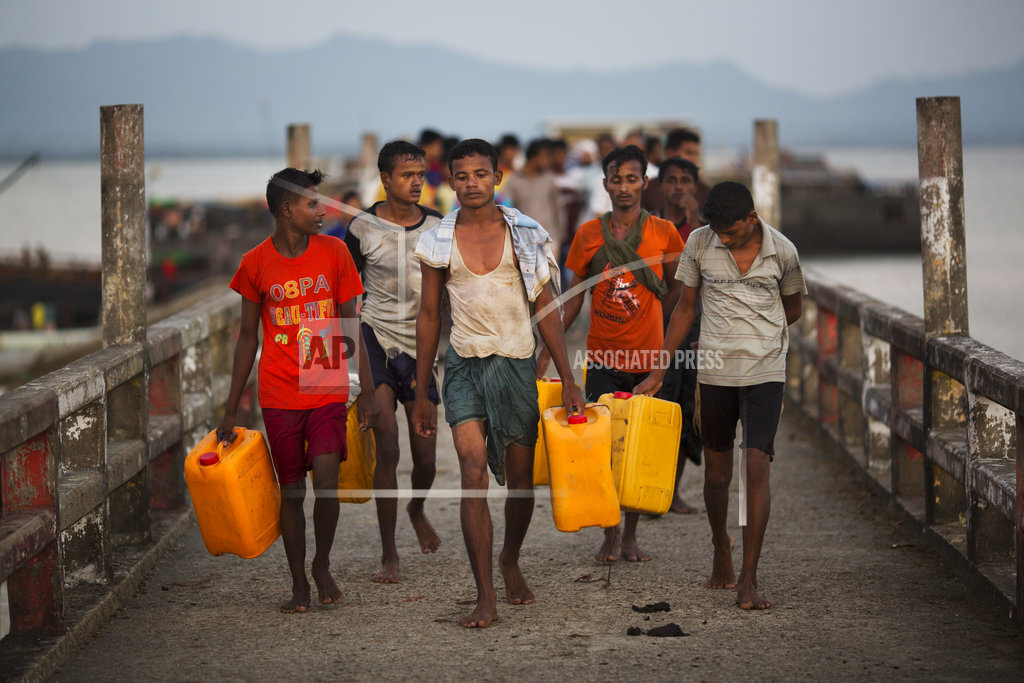 Rohingya desperate to flee Myanmar are turning to swimming
