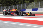 Red Bull driver Max Verstappen of the Netherlands steers his car during the Austrian Formula One Grand Prix at the Red Bull Ring racetrack in Spielberg, southern Austria, Sunday, June 30, 2019. (AP Photo/Ronald Zak)
