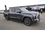 A 2022 Toyota Tundra is shown at Motor Bella in Pontiac, Mich., Tuesday, Sept. 21, 2021. Toyota is dumping the big V8 engine in the latest redesign of its Tundra full-size pickup truck, a bold move in a market that likes big, powerful engines. (AP Photo/Paul Sancya)