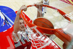 In this Monday, Sept. 2, 2019, file photo, Vladimir Ivlev of Russia dunks the ball during the group B game against South Korea in the FIBA Basketball World Cup, at the Sport Center in Wuhan in central China's Hubei province. (AP Photo/Andy Wong, File)