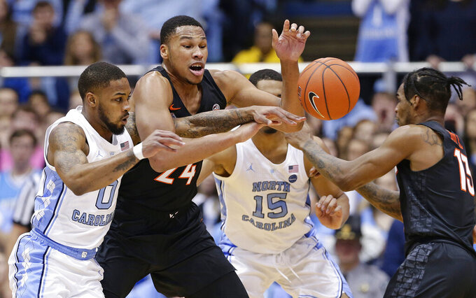 No. 11 North Carolina beats No. 10 Virginia Tech 103-82
