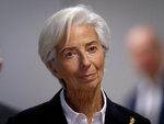 President of European Central Bank Christine Lagarde arrives for a press conference following a meeting of the governing council in Frankfurt, Germany, Thursday, Jan. 23, 2020. (AP Photo/Michael Probst)