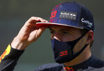 Red Bull driver Max Verstappen of the Netherlands after finishing third during the qualifying session for the Hungarian Formula One Grand Prix, at the Hungaroring racetrack in Mogyorod, Hungary, Saturday, July 31, 2021. The Hungarian Formula One Grand Prix will be held on Sunday. (David W Cerny/Pool via AP)