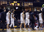 Vanderbilt players line up to shake hands with Arkansas players after an NCAA college basketball game Wednesday, March 6, 2019, in Nashville, Tenn. Arkansas won 84-48. The Commodores (9-21, 0-17 Southeastern Conference) now have the most losses in school history, and they wrapped up their home schedule at 8-10 for the first losing record in 67 seasons at Memorial Gym. (AP Photo/Mark Humphrey)