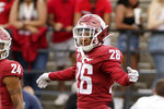 FILE - This Sept. 7, 2019, file photo shows Washington State defensive back Bryce Beekman (26) during the second half of an NCAA college football game against Northern Colorado in Pullman, Wash. Bryce Beekman has died. Police Cmdr. Jake Opgenorth said Wednesday, Marc 25, 2020, the 22-year-old Beekman was found dead at a residence in Pullman. He declined to provide additional details and said more information would be released later by the Whitman County coroner's office. (AP Photo/Young Kwak, File)