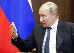 Russian President Vladimir Putin speaks during his meeting with Israeli Prime Minister Benjamin Netanyahu in Sochi, Russia, Thursday Sept. 12, 2019. (Shamil Zhumatov/Pool Photo via AP)