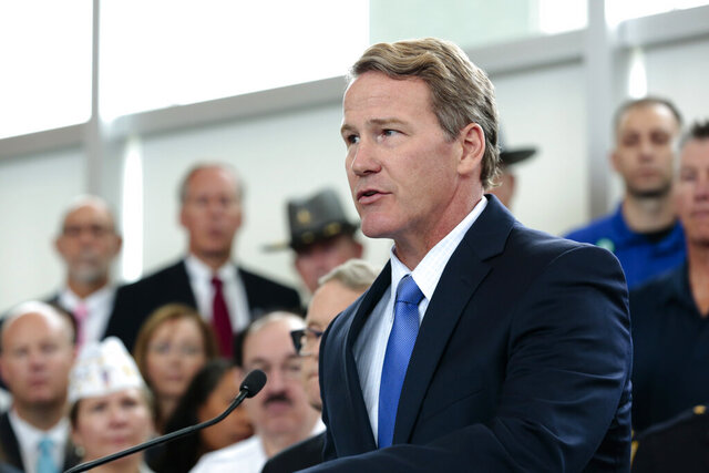 FILE - In this Oct. 7, 2019 file photo, Ohio Lt. Gov. Jon Husted speaks during a news conference unveiling the STRONG Ohio Bill at the Ohio Department of Public Safety in Columbus, Ohio.  High-speed internet would spread to about 1 million unserved or underserved Ohioans along rural routes and highways previously off-limits to private development under a strategic plan released Thursday, Dec. 19. Husted, who oversees InnovateOhio, said the plan is a necessary step in helping Ohio compete for federal resources that public-private partnerships can use to make needed improvements.  (Joshua A. Bickel/The Columbus Dispatch via AP, File)