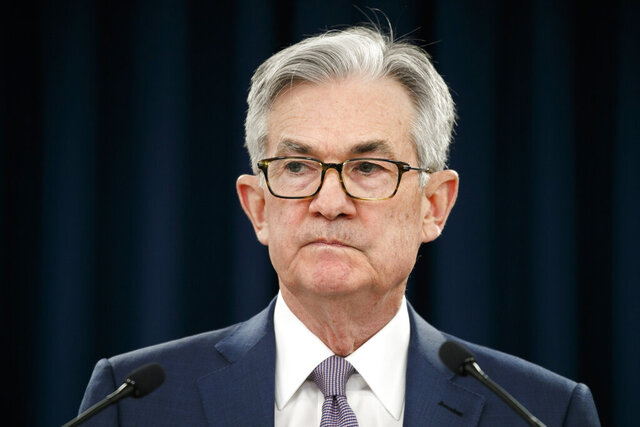 Federal Reserve Chair Jerome Powell pauses during a news conference, Tuesday, March 3, 2020, while discussing an announcement from the Federal Open Market Committee, in Washington. In a surprise move, the Federal Reserve cut its benchmark interest rate by a sizable half-percentage point in an effort to support the economy in the face of the spreading coronavirus. Chairman Jerome Powell noted that the coronavirus