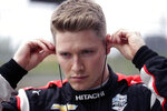 "FILE - In this Feb. 12, 2020, file photo, IndyCar driver Josef Newgarden prepares for IndyCar Series Open Testing, in Austin, Texas. The 2020 IndyCar season will open Saturday night, June 6, at Texas Motor Speedway. ""Texas is a very difficult racetrack to race in general, whether you've been there 20 years or first time. It's a daunting track to get right,"" Newgarden said. ""Typically we have five races or so to sort out our stuff, kind of get ourselves in the right frame of mind, have a general base before we go to a track like that."" (AP Photo/Eric Gay, File)"