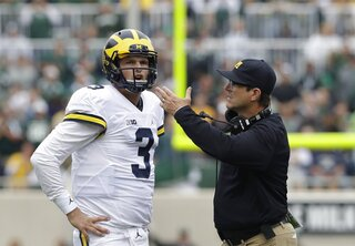 Wilton Speight, Jim Harbaugh